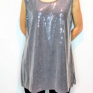 Chico's Embellished Sequin Dress Tank Top